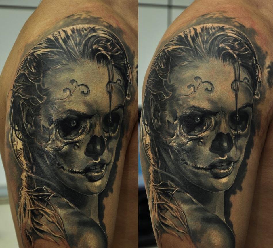 Dämonisches Gesicht Tattoo