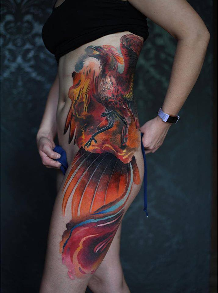 farbiges Dachen Tattoo
