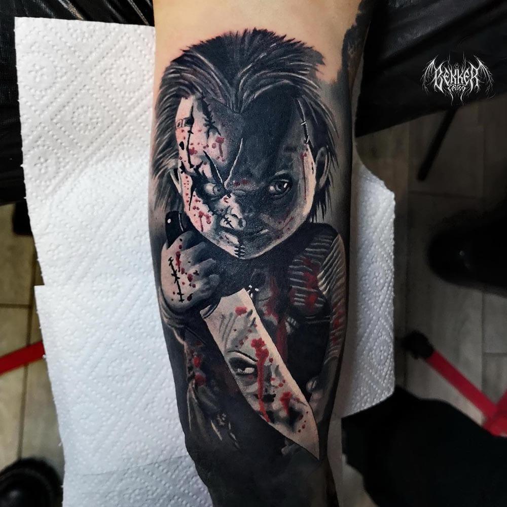 Chucky die Mörderpuppe Tattoo