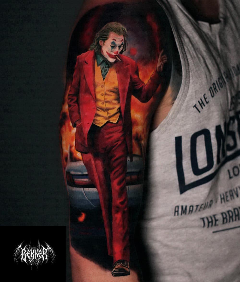 Joker am Arm Tattoo