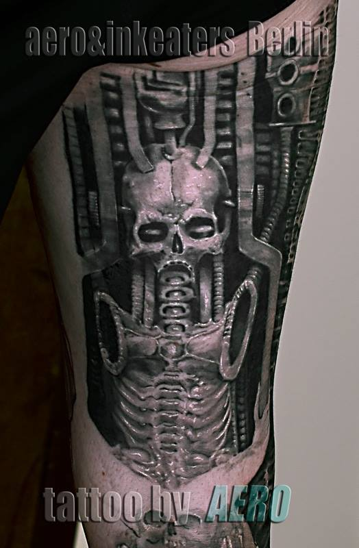 Mumien artiges Skelett Tattoo