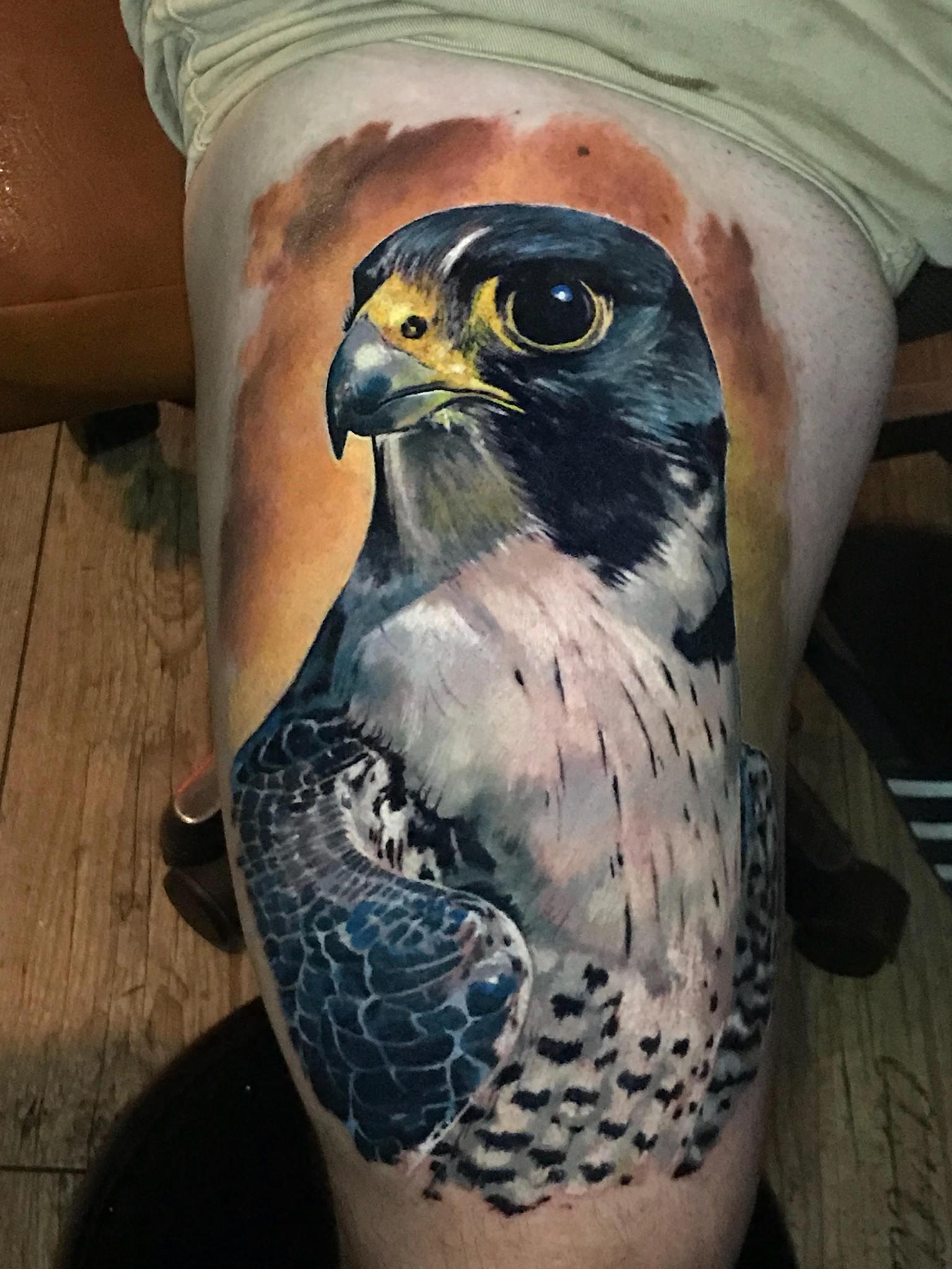 Farbiger Vogel Tattoo