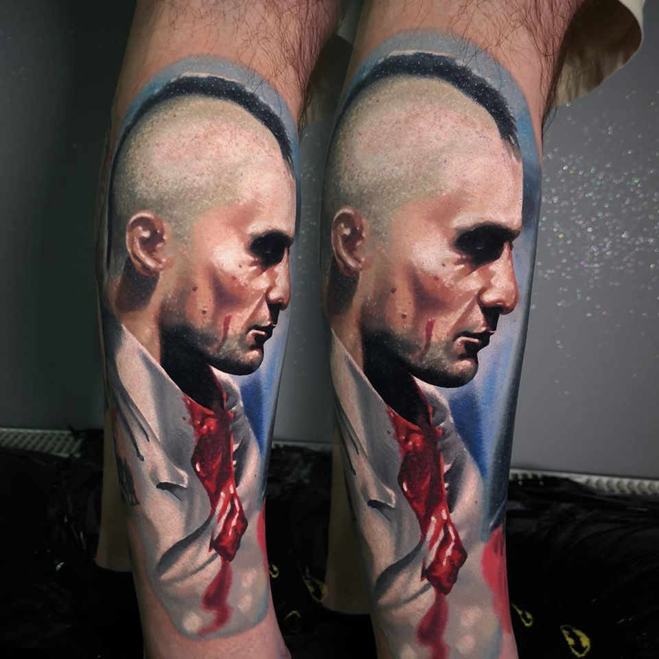 Seitliches Tattoo Portrait