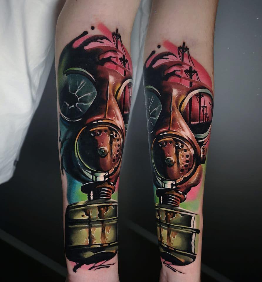 Gasmasken Tattoo