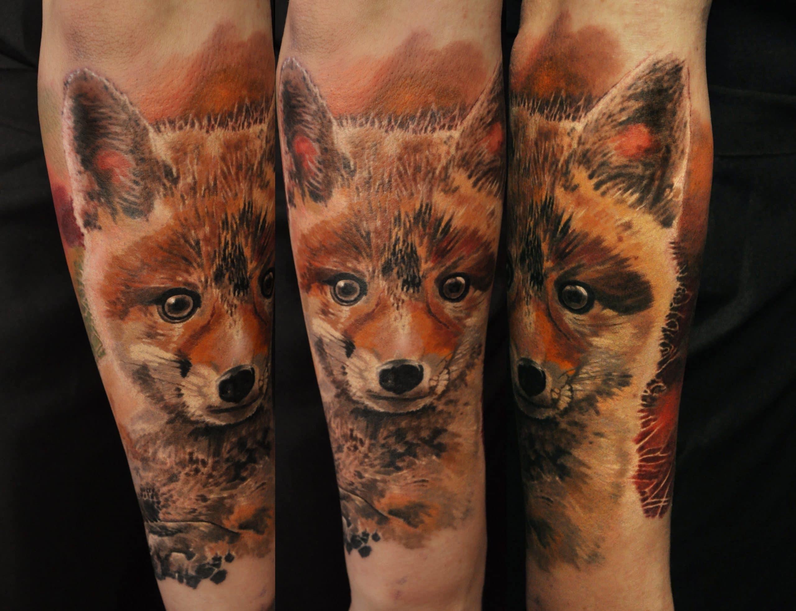 Fucks Tattoo in Farbig