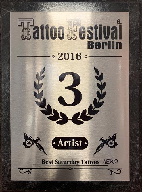 Auszeichnung inkeaters Tattoo