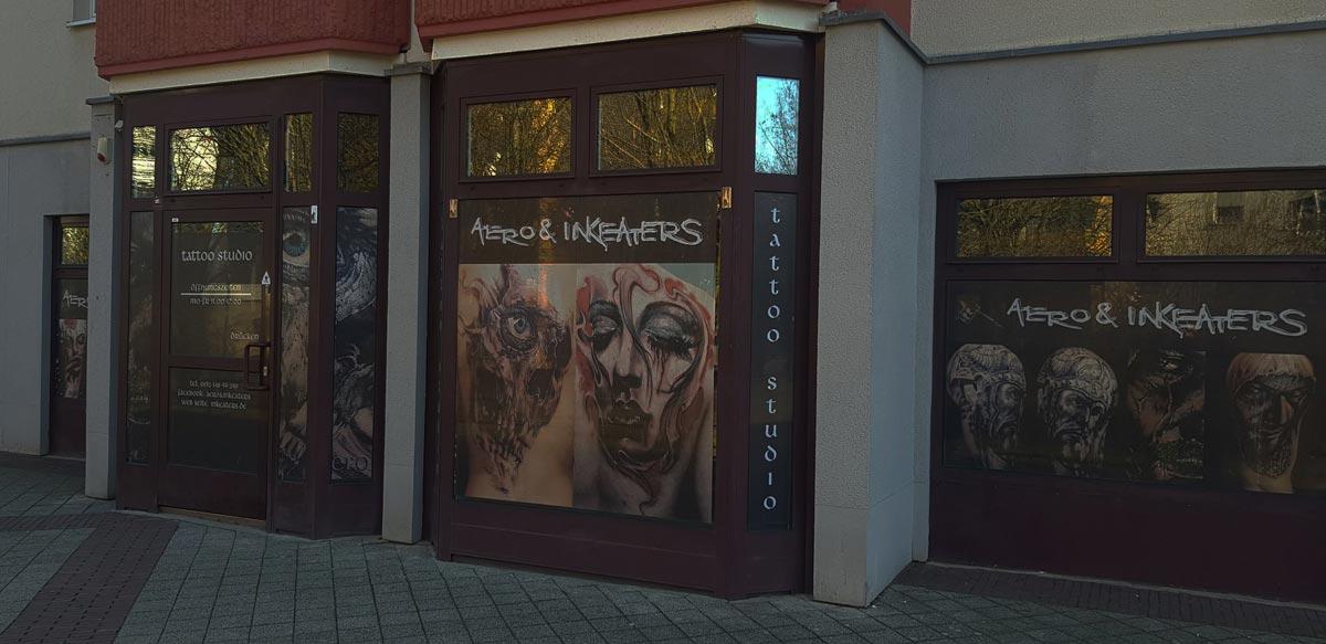 Inkeaters Studio von Draußen