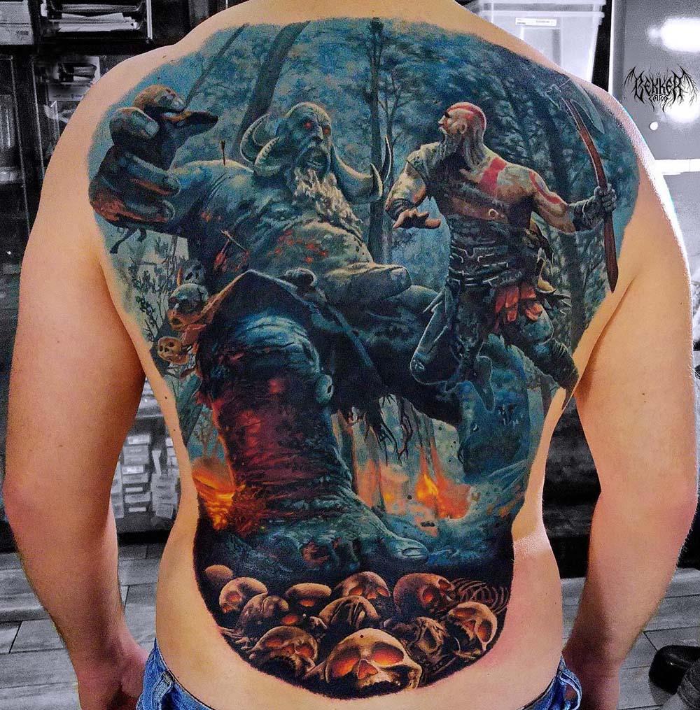 eine Schalcht im Wald Tattoo
